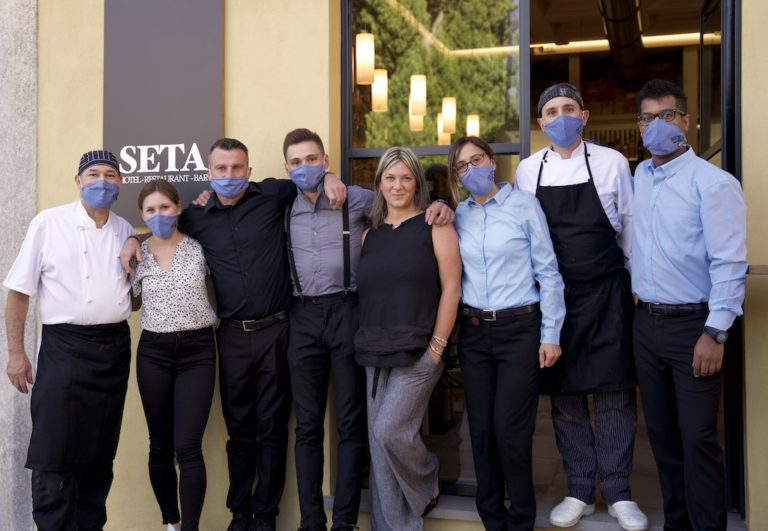 Staff of the Seta hotel and restaurant in Bellagio